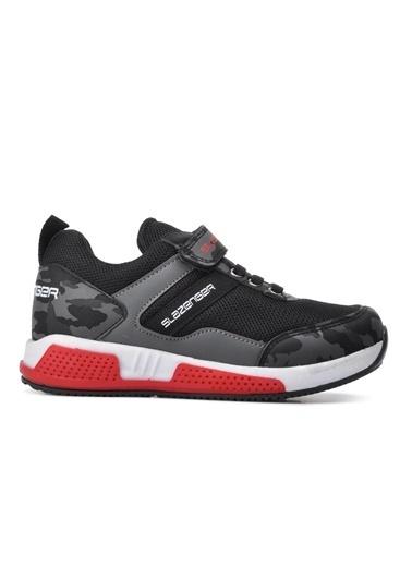 Slazenger Slazenger EFFECTOR Spor Çocuk Ayakkabı  Kamuflaj Siyah